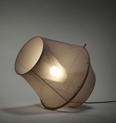 lamp for gloomy room,,, | Moire Lamp by Marc Sarrazin