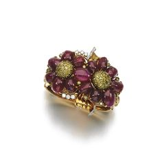 Ruby and diamond bracelet, 'Reflection', Trabert & Hoeffer Mauboussin, 1970s - Estimate: $20,807 - 23,779