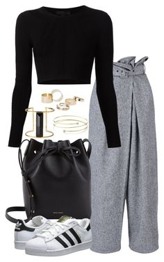 A fashion look from October 2015 featuring cushnie et ochs top, high waisted pleated pants and white lace up shoes. Browse and shop related looks. Cute Swag Outfits, Stylish Outfits, Fashion 2020, Daily Fashion, Mode Simple, Kpop Fashion Outfits, Fashion Capsule, Polyvore Outfits, Korean Fashion
