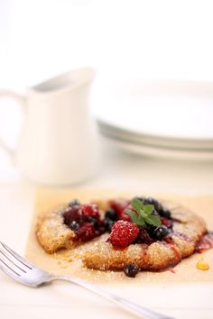 Whole Wheat Triple Berry Galettes #recipes