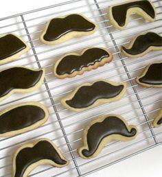 Mustache cookies.