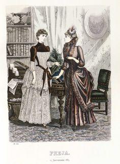 Freja - Illustrerad Skandinavisk Modetidning (Swedish) 1883