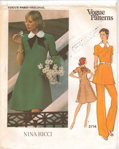 70s Vogue Paris Original Pattern 2714 Nina Ricci by CloesCloset, $35.00