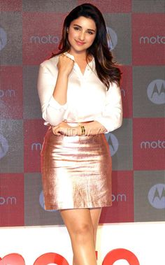 Parineeti Chopra at a Moto M launch event in Mumbai.