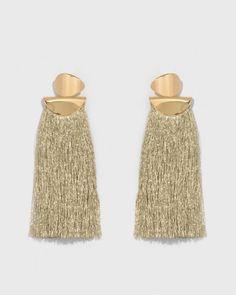 Lizzie Fortunato Crater Earrings in Metallic Gold | The Dreslyn