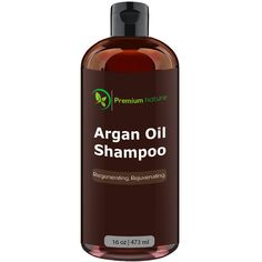 Argan Oil Daily Shampoo 16 oz, All Organic, Rejuvenates Heat Damaged Hair, Nourishes and Prevents Breakage, Sulfate Free, Vitamin Enriched Formula by Premium Nature -- You can find more details by visiting the image link. #hairnourishing