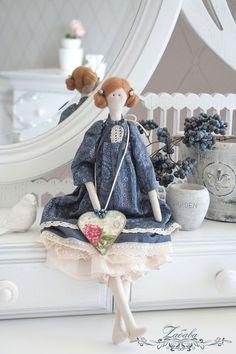 Куклы Тильды ручной работы. Ярмарка Мастеров - ручная работа Кукла в стиле Тильда Элла. Handmade.