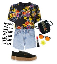 """Senza titolo #233"" by thebrunettesalad ❤ liked on Polyvore featuring MSGM, Levi's, Puma, MAC Cosmetics, LULUS and DOUUOD"