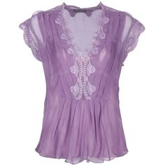 ALBERTA FERRETTI lace embroidered top ($785) ❤ liked on Polyvore