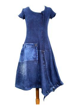 Denim Fashion, Boho Fashion, Denim Ideas, Jumpsuit Outfit, Shirt Refashion, Daily Dress, Jeans Material, Recycled Denim, Denim Outfit