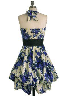 Indigo Gardens Dress, #ModCloth Brunch