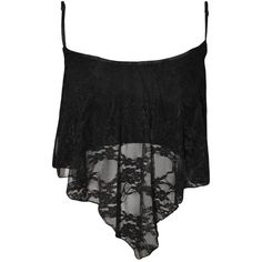 PaperMoon Women's Lace Camisole Crop Top (€0,09) ❤ liked on Polyvore featuring tops, crop top, shirts, black, camisole tops, cropped camisole, lace top, cami top and shirt crop top
