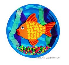 Turn a paper plate into a 3D Goldfish Bowl!
