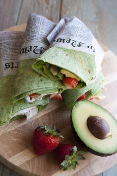 Chicken Strawberry Salad Wrap | muybuenocookbook.com | #strawberries #avocado #wrap