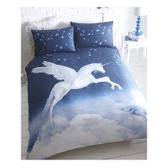 A stunning winged unicorn design duvet cover Duvet cover size: 138cm x 200cm 48% cotton, 52% polyester