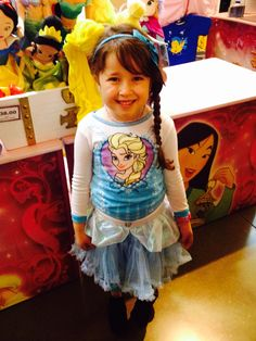 Lola at the Disney show Princesses and Heros