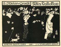 ART & ARTISTS: Félix Vallotton - part 4 - woodcuts (1)
