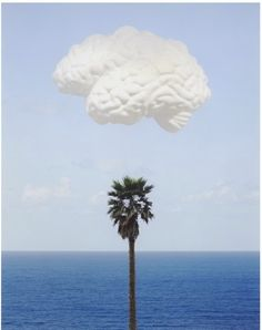 John Baldessari   (American, born 1931), Brain/Cloud (With Seascape and Palm Tree), 2009, print, 74.0 x 58.0 cm