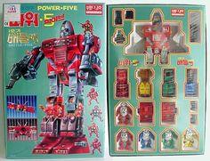 Power Five Robots Globo