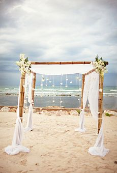 Brides: A Destination Beach Wedding in Montego Bay, Jamaica | Beach Weddings | Real Weddings | Brides.com