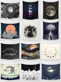 Society6 Moon Tapestries - Society6 is home to hundreds of thousands of artists from around the globe, uploading and selling their original works as 30+ premium consumer goods from Art Prints to Throw Blankets. They create, we produce and fulfill, and every purchase pays an artist.
