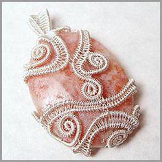 freeform woven wire pendant cage
