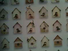How cute would a wall of #birdhouses be in your little #nursery decor!