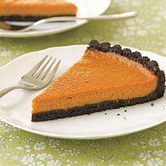 Black-Bottom Pumpkin Tart   MyRecipes.com