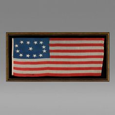 Early 13 Star Ships Flag c 1840 1860