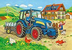 Ravensburger Kinderpuzzle 07616 Baustelle und Bauernhof: Amazon.de: Spielzeug Puzzle Ravensburger, Puzzles Für Kinder, Tractors, Monster Trucks, Poster, Illustrations, Products, Dibujo, Technology
