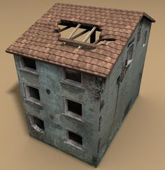 Max Destroyed Building House - 3D Model
