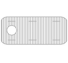 Whitehaus GR3618 Stainless Steel Sink Grid 32 3/4 X 15 Inch