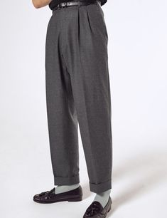 Scott Fraser Collection - Empire wasit pleasted high waist trousers - worn 8 Peg Trousers, Mens Fashion Suits, High Waist, Empire, Bring It On, Sweatpants, Fabric, Jackets, Collection