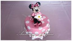 Cake Topper Minnie Mouse in rosa!