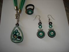 Handmade by Mihaela: Green jewelry set