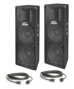 Build an affordable, portable powered PA rig with Peavey loudspeakers. Loaded with dual woofers, these speakers push out plenty of bass. Home Audio Speakers, Powered Speakers, Music Production, Audiophile, Ted Speakers