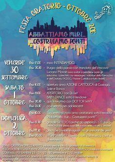 """Dal 30 settembre al 2 ottobre """"Abbattiamo muri... Costruiamo ponti!"""" festa Oratorio San Filippo Neri 2016 - http://www.gussagonews.it/abbattiamo-muri-costruiamo-ponti-festa-oratorio-san-filippo-neri-2016/"""