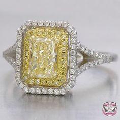Yellow Canary Diamond... Right hand ring?!