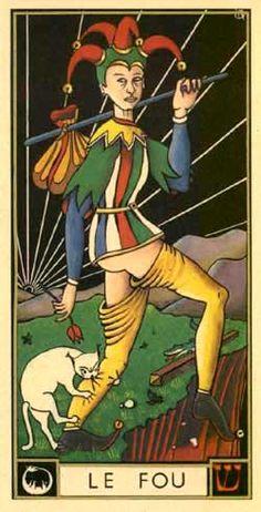 Le Fou du Tarot d'Argolance. Ahh...so baggie pants are NOT unique to modern times!