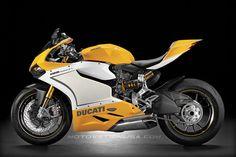 Ducati 1199 Panigale color concept - yellow.