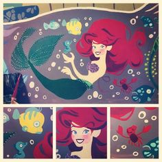 Mural Ariel details, by tumblr request!