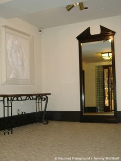 """The"" mirror from Marilyn Monroe's suite in the Roosevelt Hotel in Hollywood...""the"" mirror that supposedly is haunted with her image when you try to see your own........"