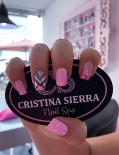 𝒞𝑅𝐼𝒮𝒯𝐼𝒩𝒜 𝒮𝐼𝐸𝑅𝑅𝒜 𝒩𝒜𝐼𝐿 𝒮. by Sierra Nail Spa 💗 Classy Nail Designs, Fall Nail Designs, Manicure E Pedicure, Nail Spa, Classy Nails, Cute Nails, Pink Nails, Gel Nails, Bride Nails
