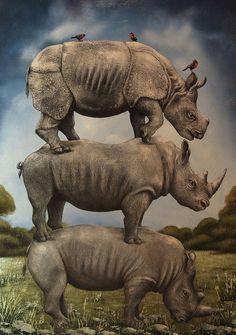 """""""Rhino Scaffolding"""" by Tyson Grumm"""