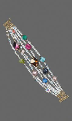 Jewelry Design - Multi-Strand Bracelet with Swarovski Crystal - Fire Mountain Gems and Beads