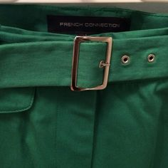 French Connection - green trousers NWT green wide leg French Connection trousers! Beautiful classy alternative to plain black pants. They look amazing paired with black heels! French Connection Pants
