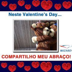 Abraçar neste Valentine's Day, é muito bom!!!