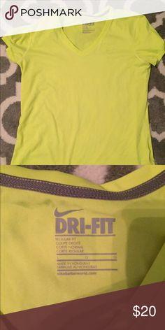 Dri fit neon tee Neon yellow/green Dri fit workout shirt. Nike Tops