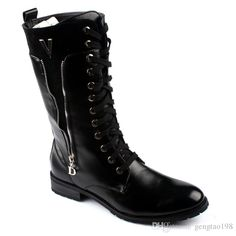 Mens Black Goth Punk Rock Band Martin Men'S Boots Aaa From Gengtao198, $73.29 | Dhgate.Com
