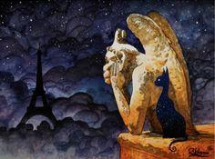 Raphael Vavasseur | ACRYLIC | Mystic Cat In Paris